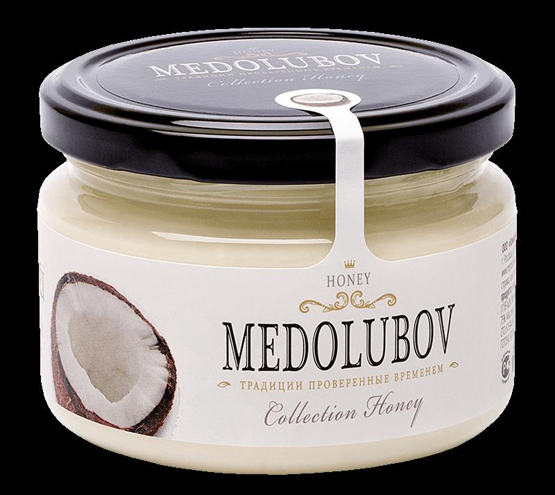 Крем-мёд Медолюбов скокосом
