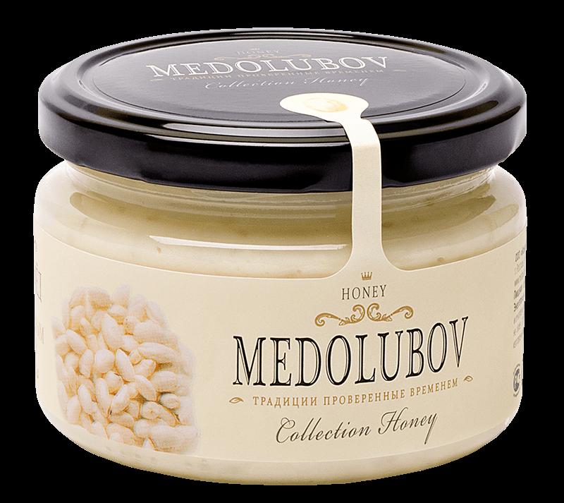Крем-мёд Медолюбов своздушным рисом