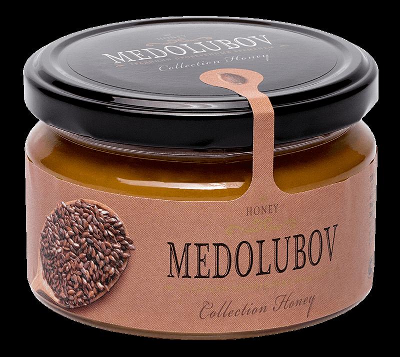 Крем-мёд Медолюбов урбеч ссеменами льна
